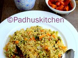 Bulgur Wheat Upma Recipe-Bulgur with Mixed Vegetables-Bulgur Indian Recipes