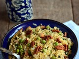 Bulgur with Peas and Mint-Easy Vegetarian Indian Bulgur Recipes
