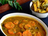 Carrot Sambar Recipe-No Onion-No Garlic Carrot Sambar