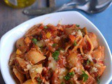 Conchiglie Pasta with Tomato Sauce-Bell Pepper-Red Sauce Pasta Recipe