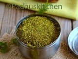Coriander Leaves Podi-Kothamalli Podi Recipe-Podi Recipes