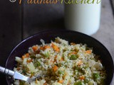Couscous Upma Recipe-Indian Style Couscous Upma-Couscous with Vegetables