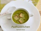 Creamy Spinach Soup Recipe-Palak Soup-Soup Recipes