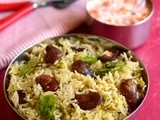 Double Beans Pulao-Double Beans Rice-Healthy Lunch Box Recipes