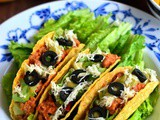 Mexican Tacos Recipe-Vegetarian Mexican Tacos with Refried Beans