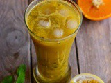 Orange Mint Passion Fruit Juice Recipe-Orange Passion Fruit Mint Cooler