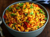 Orzo Tomato Pasta with Bell Pepper-Healthy Orzo Pasta Recipe