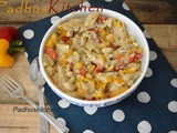 Pasta in White Sauce-Penne Pasta Recipe (Vegetarian)