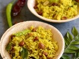 Puli Aval-Easy Tamarind Poha(upma) Recipe-Poha Pulihora-Poha Recipes