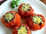 Quinoa Stuffed Tomatoes Recipe-Baked Tomatoes with Black Quinoa-Corn