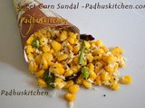 Sweet Corn Sundal-South Indian Navaratri Sundal Recipes
