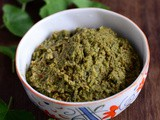 Vallarai Keerai Thuvaiyal-Brahmi Leaves Chutney Recipe