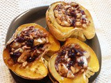 Apple and Pecan Stuffed Sweet Dumpling Squash plus a Supermoon Stargazer Alert