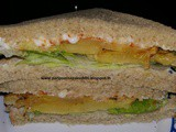 Grilled pineapple lettuce sandwich