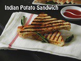 Aloo Masala Sandwich Or Indian Style Spicy Potato Sandwich