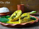 Doi Bhapa Ilish Or Yogurt Steamed Hilsa