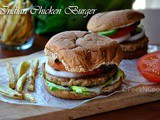 Homemade Spicy Indian Style Ground Chicken Burger Recipe