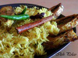 Ilish Or Elish Polao Or Pulao/Bengali Rice Pilaf With Hilsha Fish