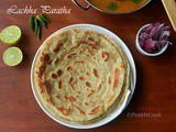 Lachha Paratha Or Multi Layered Indian Flat Bread