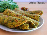 Methi Paratha or Fenugreek Leaves Indian Bread