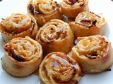 Apple and cranberry mini rolls