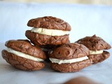 Brownie Cookies with Mascarpone Filling