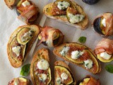 Bruschetta with Figs and Blue Cheese | Roasted Figs with Bacon and Manouri