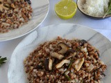 Buckwheat Risotto with Shiitake Mushrooms