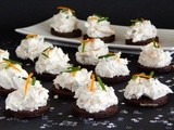 Canapés with Smoked Trout, Orange and Goat Cheese