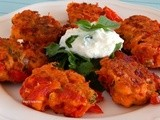Cherry tomato fritters