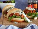 Chicken Sandwich with Barbecue and Roquefort Sauce