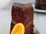 Chocolate Cake with Orange and Chocolate Glaze