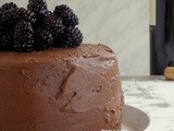 Chocolate Cake with Red Wine and Fresh Blackberries