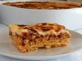 Greek Pastitsio with Savory Meat Sauce