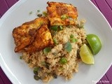 Indian spiced cod with quinoa