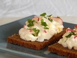 Open Sandwich with Smoked Trout and Eggs