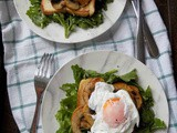 Poached Eggs with Mushrooms and Arugula