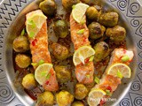 Roasted Salmon with Brussel Sprouts