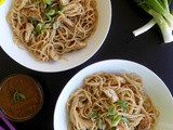 Spaghetti with Chicken and Peanut Butter Sauce