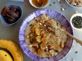 Warm Breakfast with Oat Bran, Banana and Dates