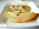 Cheese and Parsley Rice-n-Lentil Dosa Crepes: Southern India's Versatile Bread