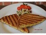 Egg Salad with Bell Peppers in a Toastie-style Panini Sandwich
