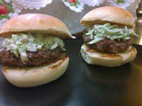 The Mayo Burger ~ with lettuce slaw