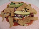 Layered Southwestern Salad with Homemade Tortilla Strips