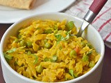 Cabbage Peas Subji / Cabbage and Peas Curry