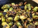 Charred Brussels Sprouts with Bacon & Dates