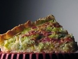 Quiche with leeks, proscuitto and goat cheese
