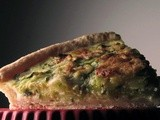 Quiche with zucchinis, goat cheese and cumin