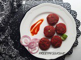 Beets and potato tikki (veg tikki)