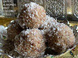 Dates, almonds and coconut rolls (no bake recipe)